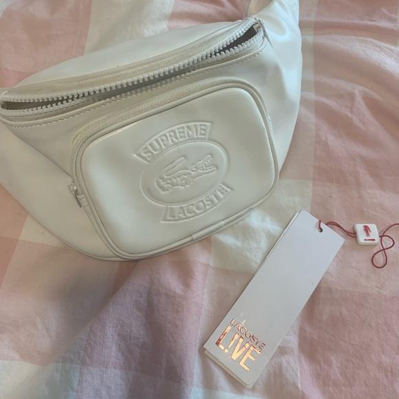 0adb33648cf7 Supreme x LACOSTE Waist Bag White
